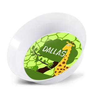 Safari Boys Personalized Melamine Bowl