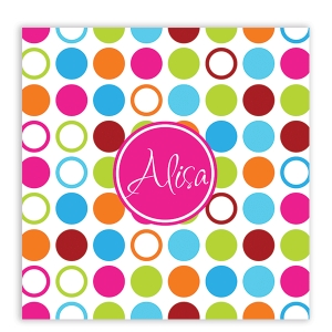 Bright Dots Personalized Shower Curtain