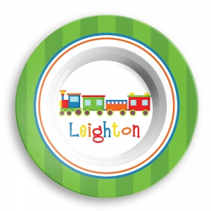 Choo Choo Train Personalized Melamine Bowl