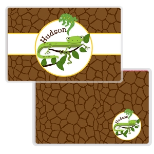 Cool Reptiles Boys Personalized Placemat
