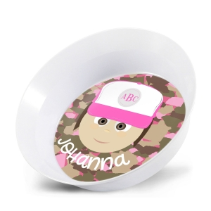 Personalized Girls Melamine Faces Bowl- Johanna Girl Bowl