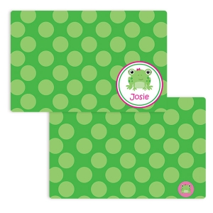 Frog Girls Personalized Placemat