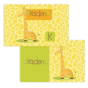 Giraffe Boys Personalized PlacematFiretruck Personalized Placemat