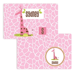 Giraffe Girls Personalized Placemat