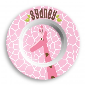 Giraffe Girl Personalized Bowl