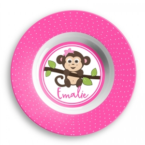 Go Bananas Girls Personalized Bowl