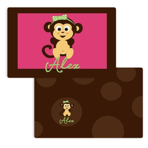 Go Bananas Girls Personalized Placemat