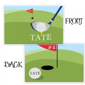 Golf Boys Personalized Placemat