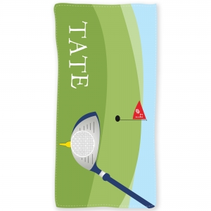 Golf Personalized Kids Beach Towel