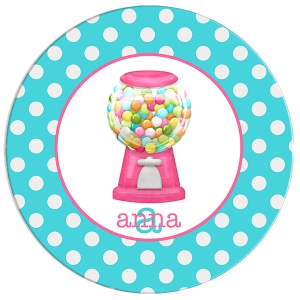 Gumballs Girls Personalized Plate