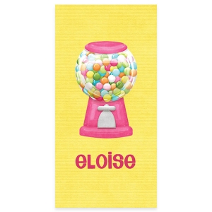 Gumballs Personalized Kids Beach Towel