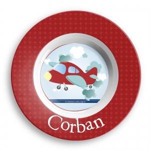 Airplane Boys Personalized Melamine Bowl