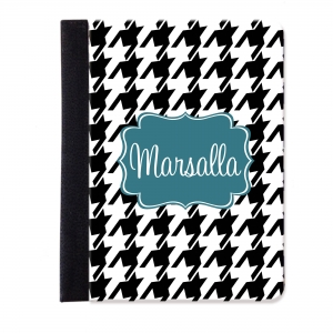 Houndstooth Personalized iPad Mini Folio Case