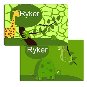 Safari Boys Personalized Placemat