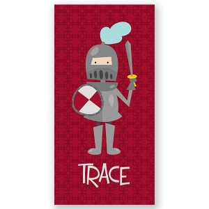 Knight Personalized Kids Beach Towel