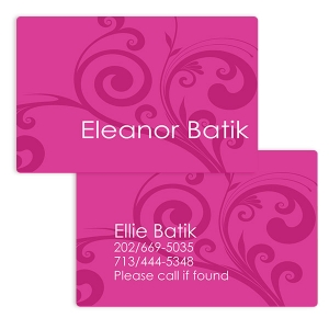 Mod Magenta Girls Personalized Placemat