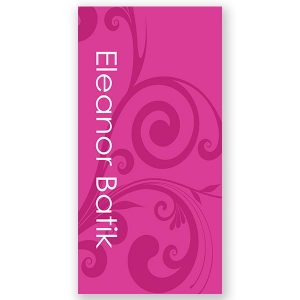 Mod Magenta Personalized Kids Beach Towel