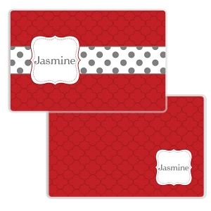 Petals & Dots Girls Personalized Placemat