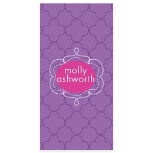 Preppy Petals Personalized Beach Towel