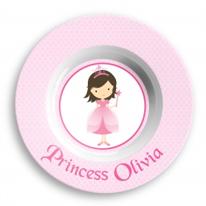 Princess Girls Personalized Bowl