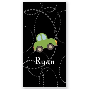 Roadster Personalized Kids Beach Towel