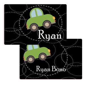 Roadster Boys Personalized Placemat