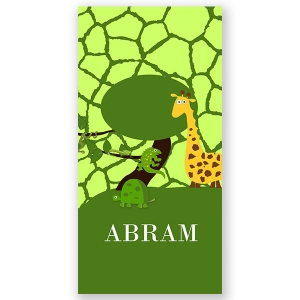 Jungle Safari Personalized Kids Beach Towel