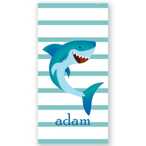Shark Personalized Kids Beach Towel