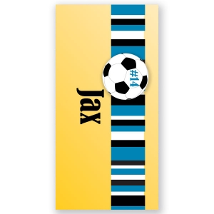 Soccer Boys Personalized Beach Towel
