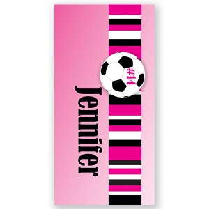 Soccer Girls Personalized Beach Towel