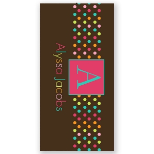 Sugary Sweet Personalized Beach Towel