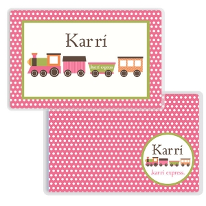 Train Girls Personalized Placemat