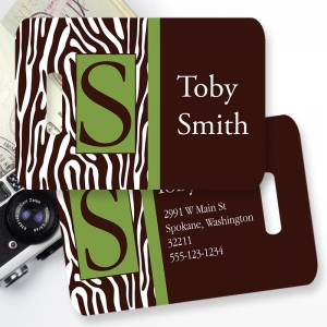 Zebra Boy Personalized Kids Bag Tag