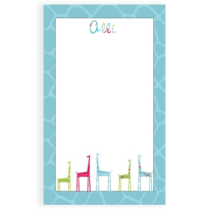 Giraffe Personalized Kids Notepad
