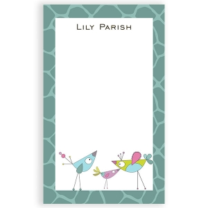 Little Birdies Personalized Kids Notepad