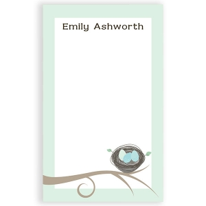 Birds Nest Personalized Notepad
