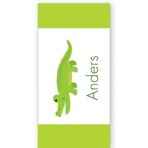 Cool Croc Personalized Kids Beach Towel