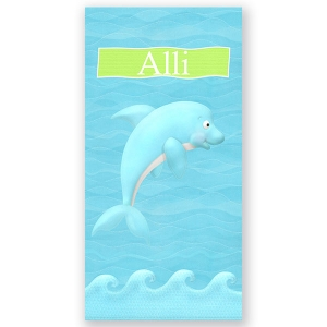 Dolphin Personalized Beach Towel