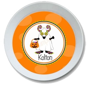 Halloween Monster Personalized Melamine Bowl