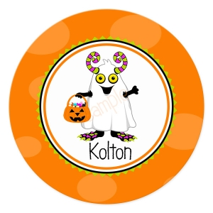 Halloween Monster Personalized Plate