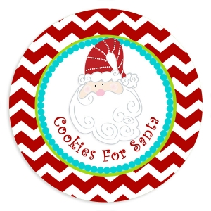 Santa Personalized Plate