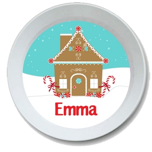 Gingerbread House Christmas Personalized Bowl