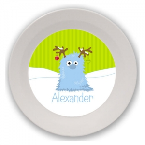 Monster Christmas Personalized Kids Bowl