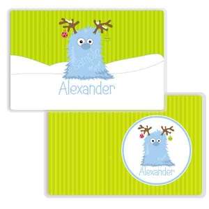 Monster Christmas Personalized Kids Placemat