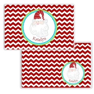 Santa Christmas Personalized Kids Placemat