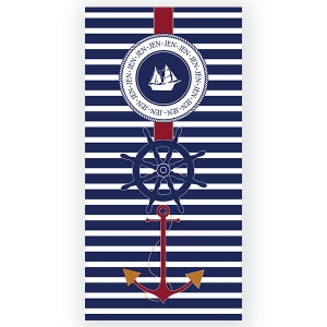 Nautical Personalized Beach Towel