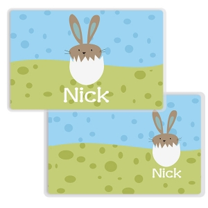Bunny Chick Boy Personalized Kids Placemat