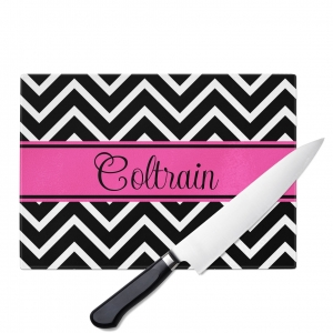 Chevron Pattern Monogrammed Cutting Board