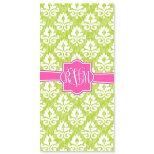 Damask Ikat Personalized Bath or Beach Towel