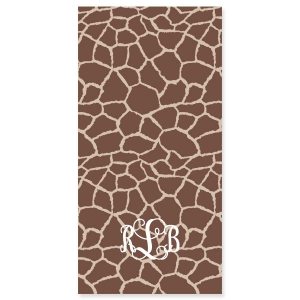 Giraffe Print Personalized Beach Towel